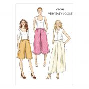 Vogue Ladies Easy Sewing Pattern 9091 Culottes & Pants