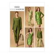 Vogue Ladies Easy Sewing Pattern 9094 Jacket, Top, Dress & Pants