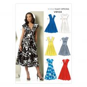 Vogue Ladies Easy Sewing Pattern 9103 Lined Dresses in 6 Styles