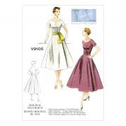 Vogue Ladies Sewing Pattern 9105 Original 1954 Vintage Dress Design