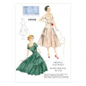 Vogue Ladies Sewing Pattern 9106 Original 1952 Vintage Dress Design