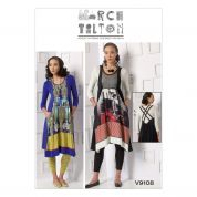 Vogue Ladies Sewing Pattern 9108 Tops, Patchwork Dresses & Leggings