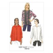 Vogue Ladies Easy Sewing Pattern 9110 Very Loose Fitting Batwing Tops