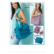 Vogue Accessories Sewing Pattern 9120 Hand Bag & Zipped Purse Pouch