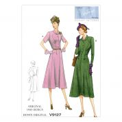 Vogue Ladies Sewing Pattern 9127 Vintage Style Dresses