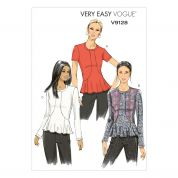 Vogue Ladies Easy Sewing Pattern 9128 Jersey Knit Tops
