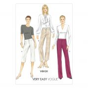 Vogue Ladies Easy Sewing Pattern 9131 Semi Fitted Shorts & Pants