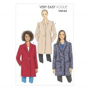 Vogue Ladies Easy Sewing Pattern 9133 Loose Fitting Unlined Jackets