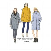 Vogue Ladies Easy Sewing Pattern 9136 Loose Fitting Coats