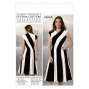Vogue Ladies Sewing Pattern 9145 Fit & Flare Bias Cut Panelled Dress