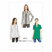 Vogue Ladies Easy Sewing Pattern 9151 Loose Fitting Tunic Tops