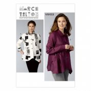 Vogue Ladies Sewing Pattern 9153 Loose Fitting Button Down Shirts