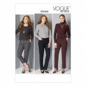 Vogue Ladies Easy Sewing Pattern 9155 Semi Fitted Tapered Pants