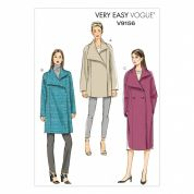Vogue Ladies Easy Sewing Pattern 9156 Double Breasted Lined Coats