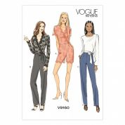 Vogue Ladies Easy Sewing Pattern 9160 Jumpsuits in 3 Styles & Belt