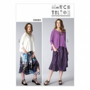 Vogue Ladies Sewing Pattern 9161 Very Loose Fitting Top & Skirt