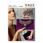 Vogue Accessories Easy Sewing Pattern 9164 Clutch Bags in 3 Styles