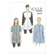 Vogue Ladies Easy Sewing Pattern 9170 Inset Seam Tunic Blouse Tops