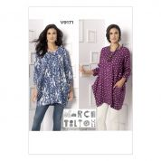 Vogue Ladies Sewing Pattern 9171 Loose Fit Side Drape Tunic Tops