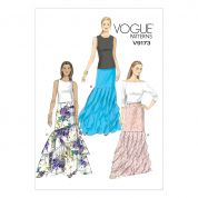 Vogue Ladies Sewing Pattern 9173 Floor Length Tiered Skirts