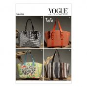 Vogue Accessories Sewing Pattern 9178 Fringed, Buckled & Seam Detailed Bags