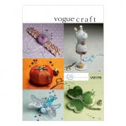 Vogue Crafts Sewing Pattern 9179 Pin Cushions in 5 Styles