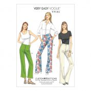 Vogue Ladies Easy Sewing Pattern 9181 Custom Fit Bootcut Pants