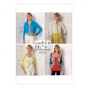 Vogue Ladies Easy Sewing Pattern 9190 Drawstring Shrugs