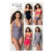 Vogue Ladies Sewing Pattern 9192 Wrap Top Bikini, One Piece Swimsuits & Cover Ups