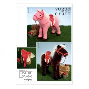 Vogue Craft Easy Sewing Pattern 9194 Plush Doll Horses with Saddle, Bridle & Blanket