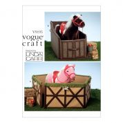 Vogue Craft Easy Sewing Pattern 9195 Horse Candral & Stall