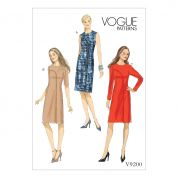 Vogue Ladies Easy Sewing Pattern 9200 Asymmetrical Overlay Dresses