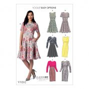 Vogue Ladies Easy Sewing Pattern 9202 Flared & Straight Dresses with Cup Sizes