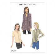 Vogue Ladies Easy Sewing Pattern 9204 V Neck Tops with Neck Ties