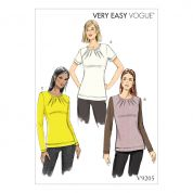 Vogue Ladies Easy Sewing Pattern 9205 Jersey Knit Tops with Inverted Neck Darts