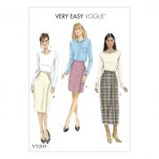 Vogue Ladies Easy Sewing Pattern 9209 Fitted Buttoned Wrap Skirts