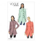Vogue Ladies Sewing Pattern 9212 Seamed & Collared Lined Jackets