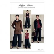 Vogue Ladies Sewing Pattern 9217 Top, Dolphin Hem Pants & Reversible Jacket