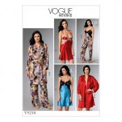 Vogue Ladies Sewing Pattern 9218 Camisole, Nightgowns, Pants & Gown