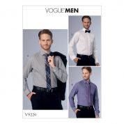 Vogue Mens Sewing Pattern 9220 Standard, Tailored & Slim Fit Shirts