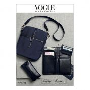 Vogue Sewing Pattern 9221 Eyeglasses Case, Passport Wallet, Card Holder & Shoulder Bag