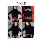 Vogue Ladies Sewing Pattern 9222 Belts in Five Styles