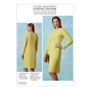 Vogue Ladies Sewing Pattern 9223 Custom Couture Gathered Front Detail Dress