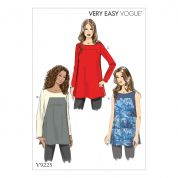 Vogue Ladies Easy Sewing Pattern 9225 Square Seam Tunic Tops