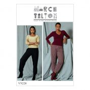 Vogue Ladies Easy Sewing Pattern 9228 Pull On Pants with Front Pockets