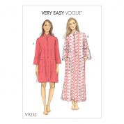 Vogue Ladies Easy Sewing Pattern 9232 Zip Front Dolman Sleeve Caftans