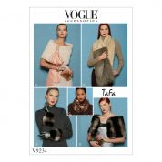 Vogue Ladies Easy Sewing Pattern 9234 Fur Accent Wraps, Scarves & Gloves