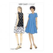 Vogue Ladies Easy Sewing Pattern 9237 A Line, Back Ruffle Dresses