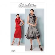 Vogue Ladies Sewing Pattern 9241 Princess Seam Dresses with Shaped Stand Collar