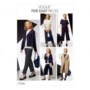 Vogue Ladies Easy Sewing Pattern 9246 Jackets, Belt, Top with Yokes & Pants